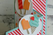 Cool Treat Stampin Up! / Stampin Up!, stamping, crafts, ice cream, summer, popcicles, gifts, birthday