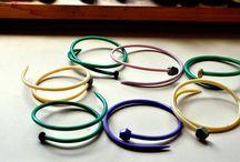 knitting needle bracelets.