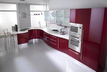 Cozinha bordo