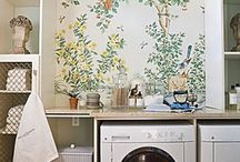 Spaces // Mudroom & Laundry Room / Wash. Fold. Iron. Repeat.