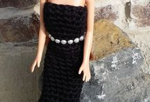 Handmade Doll Dresses, Clothing and Hand Bags / crocheted doll clothing for Barbie doll and fashion dolls. Doll sets and Holiday Collections.