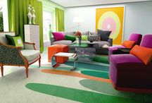 Everyone wants a happy ending. / This advanced sample space is about experiments with color and uptown lifestyles. A series of oscillating colour patters and incorporated here. The ceaseless purple and grey sofa-sets along with the compassionate wallpaper at the back wall plus the green curtains will blow your mind away! Don't forget to pay extra attention to the flooring which will fill your heart with joy! Want it? Get it!