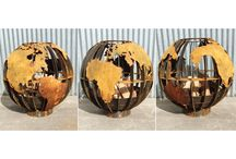Earth ball brazier / Brazieroutdoorfireplaces