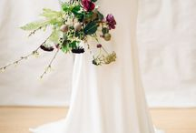 Brudebukett og knappehullblomst