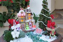 juledekorasjon i stor potte