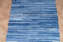 Weaving - Denim rugs, trasmattor av jeans / Rag rugs / trasmattor