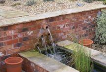 garden wall water feature