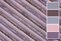 Koberečky z Oravy - fialové / Rag Rugs - Lilac, Violet, Purple, Mauve
