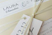 Neutral wedding invitations / Cream wedding invitations