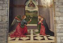 Annunciazione. Pittore fiorentino, fine sec. XV / Annunciazione. Pittore fiorentino, fine sec. XV. Firenze, S. Donato in Polverosa