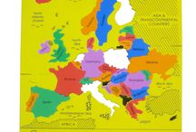 Mapology: Fun & Educational Map Puzzles / Bestseller Map Puzzles: for the 1st time learn maps with pieces cut in the shape of the state or country that fit snugly to create a perfect scale model