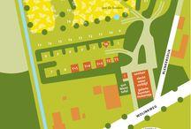 Plattegronden / Wij ontwerpen verrassende wereldkaarten, landkaarten, stadsplattegronden en plattegronden van gebouwen.