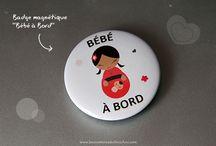 Mini-Boutique / Des badges sympas et des tote bags originaux et à personnaliser !