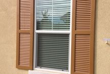 Exterior Foam Shutters / Foam Shutters are a hand-made and hand finished cast stone product. Each piece is unique in characteristics such as texture, hairline cracks, finish and color. The texture created by entrapped air ranges from smooth to random indentations. Foam Shutters are the most commonly ordered shutter in the industry because they can be fully customized at a reasonable price. Foam Shutters can be painted to the color of your choice for a semi-textured finish or delivered raw for your painting.