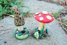 polymer clay mushroom