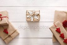 Xmas kraft gift wrapping
