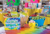 Scholastic Book Fairs: Feelin' Groovy Book Fair - Pre-K/ES / Send out positive reading vibes in 2016 with the Scholastic Book Fairs featured theme: Feelin' Groovy Book Fair: Peace, Love, BOOKS!