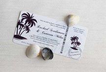 Tropical Destination Wedding Ideas / Tropical Destination Wedding Inspiration, Invitations and Ideas