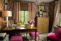 Dream Office Inspiration / Pink & green (Naturebella Inc. colors) with glimpses of white and pops of nature shining through.