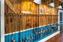 Man Cave / Turning the metal garage into a man cave.