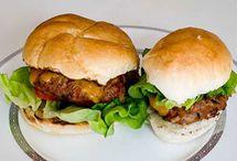 hamburgers et sandwichs