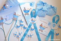 BABY SHOWER KIT: IT'S A BOY! / Isis wanted to surprise and prepare a baby shower for her friend who was expecting a boy, Alex. She decided to ask Lima Limão's help to create a completely personalized kit that she could take with her to Barcelona.