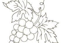 Трафареты ЦВЕТЫ фрукты / Цветы