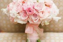 Bukiety ślubne - różowe