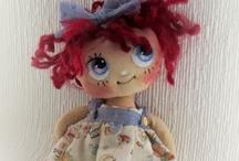 fabrics dolls 5 / by Mireya Torres Pabon