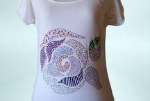 camisetas decoradas a mano