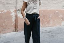 Spring-Summer Culotte Outfit