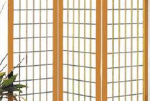 Oriental Screens / Beautiful screens that give any room in the house accent and style.