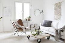Scandinavian / Scandinavian interiors, white interiors, wood, natural, Sweden style
