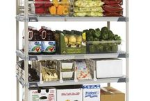 Cold Room Shelving / Offering 8 system choices in a variety of sizes and finishes to meet a wide range of requirements.  Select from stationary or mobile applications in polymer, stainless steel, epoxy coated or a combination there of.