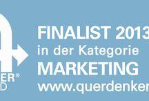 QUERDENKER Award 2013 / nominiert unter den top5 in der kategorie marketing!