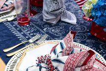 Patriotic Entertaining & Tablescapes