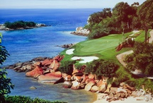 Golf Course Paintings / A selection of golf course paintings by South African artist Andrew Cooper.