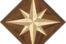 Diamond Hardwood Floor Medallions / Make your home special with one of our hand crafted medallions!