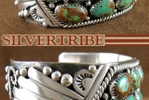 braceletes em turquesa