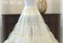 Floor length Crinoline Ivory w Gold / Weddings  Brides   Wedding Dress Petticoat