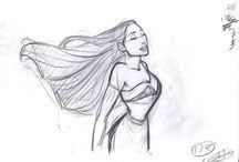 Bocetos de Disney. / :D