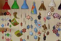 decoracion con botellas