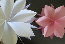 Flores de papel / DIY, exemplos de flores de papel gigantes e també pequeninas
