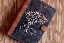Notepads for writing and drawing / notebook ideas creative - notebook diy - notebook cover - notebook quotes - sketchbook ideas - sketchbook inspiration - sketchbook drawings - sketchbook pages - notebook wood - sketchbook wood - notepad diy - Game of Thrones notebook - House Stark -