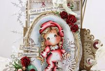 Christmas card and drawings