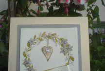 Cards/Karten Wreath/Kränze gestempelt/Stamped / gestempelte Karten mit zum Teil selbst hergestellten Stempel, aus Moosgummi gemacht mit liebe verzieht das Ergebnis kann sich doch sehen lassen finde ich....