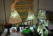 """Eveniment de design Bife-Sim / Este un eveniment concurs despre prezentarea moblierului si tot ce inseamna accesorii pentru casa. Am participat la acest evenimt concurs cu o explozie de culoare, o masa pe care am numit-o """"Arta picata din ceruri"""". Pe langa, am avut si standul care a fost plin de forme, idei care mai de care mai indraznete."""