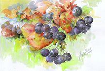 Akvarell festmények
