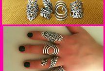Boho Silver Ring Long Ring Ethnic Ring Tribal Ring