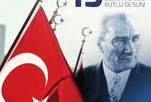 Atatürk / Türkiye Cumhuriyetinin kurusu Gazi Mustafa Kemal Atatürk'ü saygıyla ve minnetle anıyoruz.
